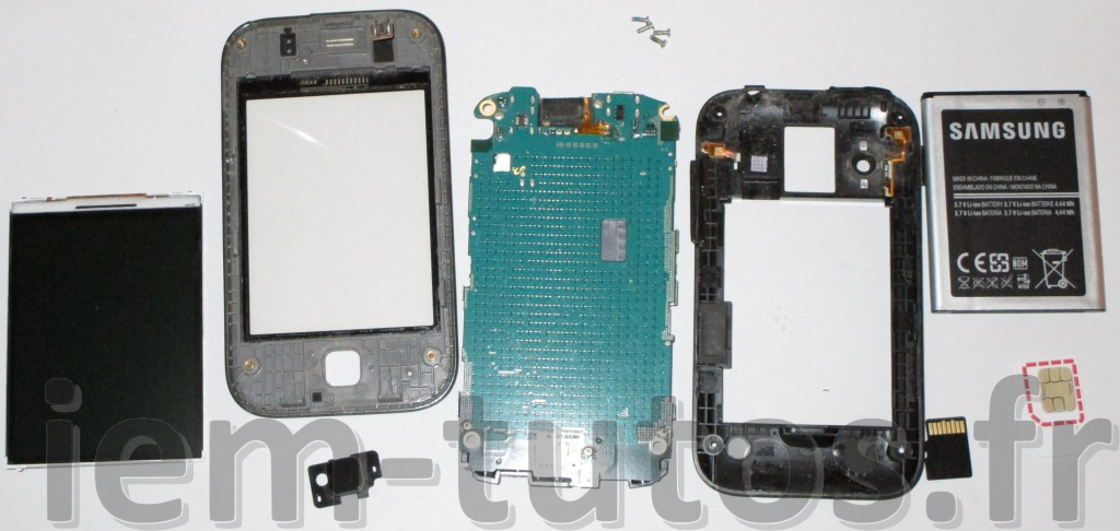 Éclaté du Samsung Galaxy Young GTS5360