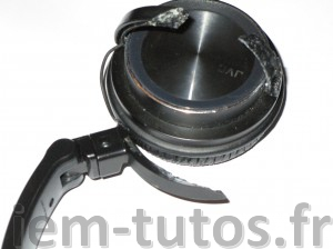 Patte du fixation du haut-parleur de casque JVC